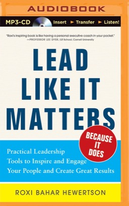 Lead Like it Matters...Because it Does